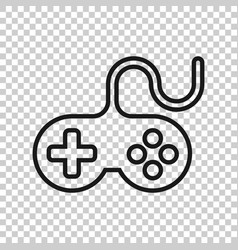 Joystick sign icon in transparent style gamepad vector