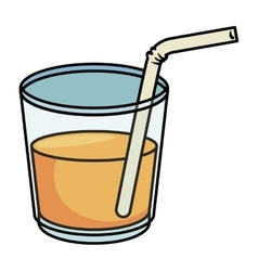 Juice glass isolated icon vector