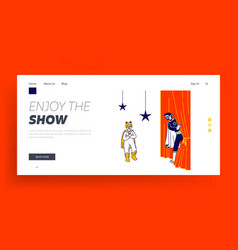 Kids theatrical performance website landing page vector