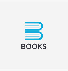 Letter b for book logo icon template vector