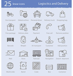 Logistics and delivery icons vector image