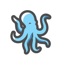 octopus sea animal icon cartoon vector image