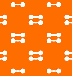 pair of dumbbells pattern seamless vector image