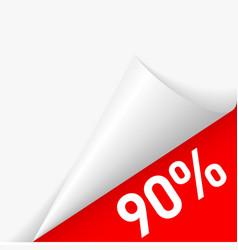 Paper corner discount vector