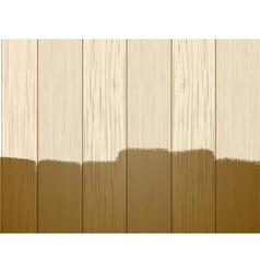Part varnished wood vector