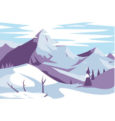 picturesque mountains landscape vector image