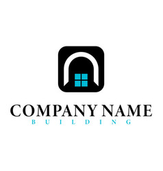 real estate initial letter n logo design template vector image