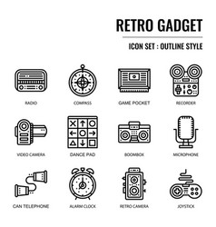 Retro gadget vector