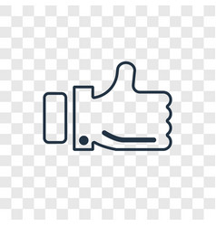 review concept linear icon isolated on vector image