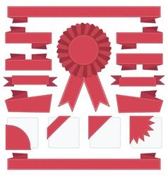 Ribbon decorations vector