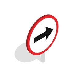 Right road sign icon isometric 3d style vector image