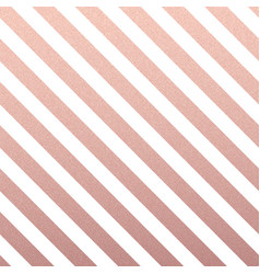 rose gold glittering diagonal lines pattern on vector image
