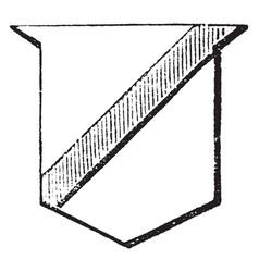 Scarpe is a diminutive bend sinister vector