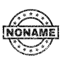 Scratched textured noname stamp seal vector