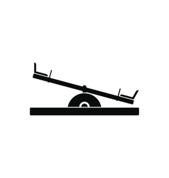 Seesaw black simple icon vector