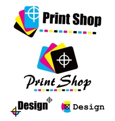 Set of cmyk designs vector
