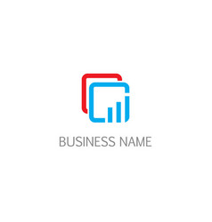 square connect business logo vector image
