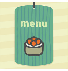 sushi rice roll with caviar japan food icon logo vector image