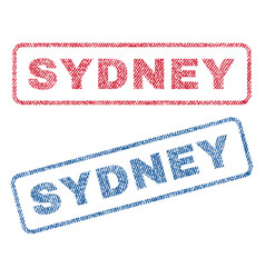 Sydney textile stamps vector