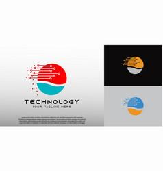 Technology logo design element vector