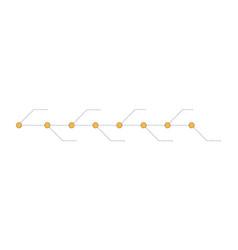 timeline presentation for 8 years timeline vector image