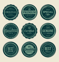 vintage retro seal premium badges labels vector image