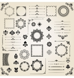 Vintage Set of Elements vector image