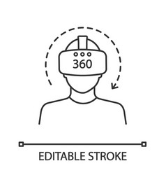 Virtual reality video linear icon vector