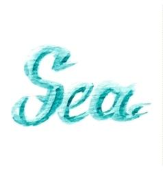 watercolor sea text vector image