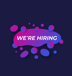 We are hiring design vector