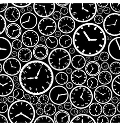 white watch dial and black background seamless vector image vector image
