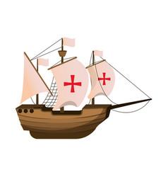 Wood ship transport navigation explore vector