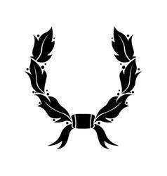 wreath black flat symbol vector image