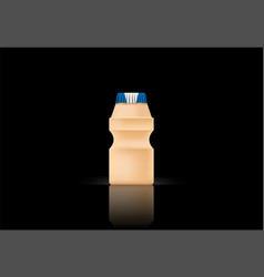yakult bottle on black bg vector image
