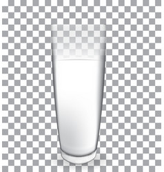 abstract milk glass on transparent backgroun vector image vector image