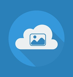 Cloud Computing Flat Icon Photos vector image vector image