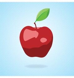 Cute cartoon red apple vector image