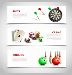 games realistic composition set vector image vector image