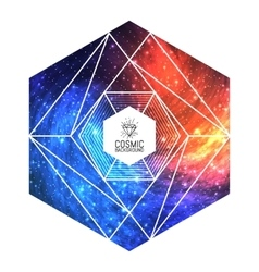 Hipster triangular colorful cosmic background vector image vector image