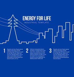 post card for energy nuclear or power company vector image