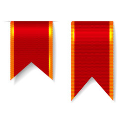 Red bookmark ribbons set vector image vector image