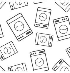washer sign seamless pattern background business vector image