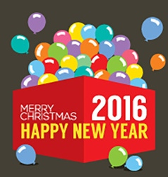 Balloons In The Box 2016 New Year vector image vector image