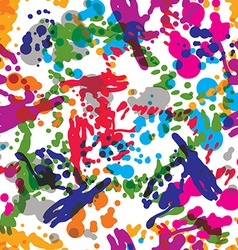 Colorful splattered web design repeat pattern art vector image vector image
