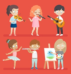 Creative kids vector image vector image