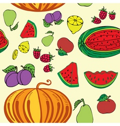 fruity pattern vector image