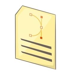 Print program icon cartoon style vector
