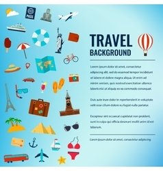 Travel and tourism concept Travel background vector image vector image