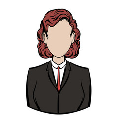 business woman icon cartoon vector image vector image