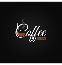 coffee cup logo design background vector image vector image